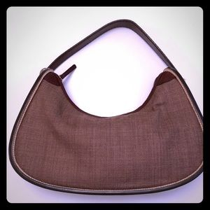 TOD'S of London Leather and Canvas Handbag